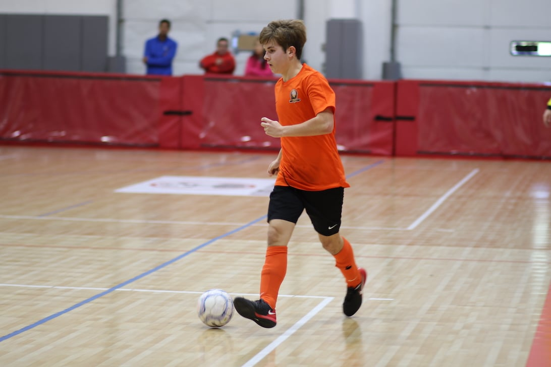 Ethan Knauth plays futsal for ESI